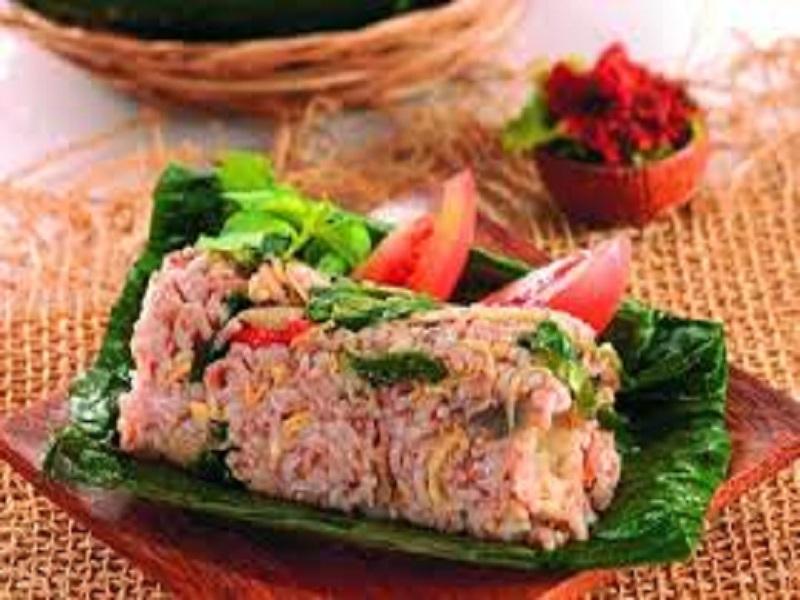 Nasi Merah Bakar Isi Ayam Dapur Ocha