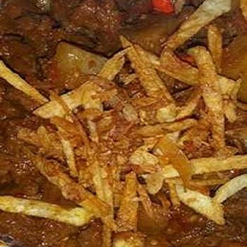 Semur daging cincang taburan kentang