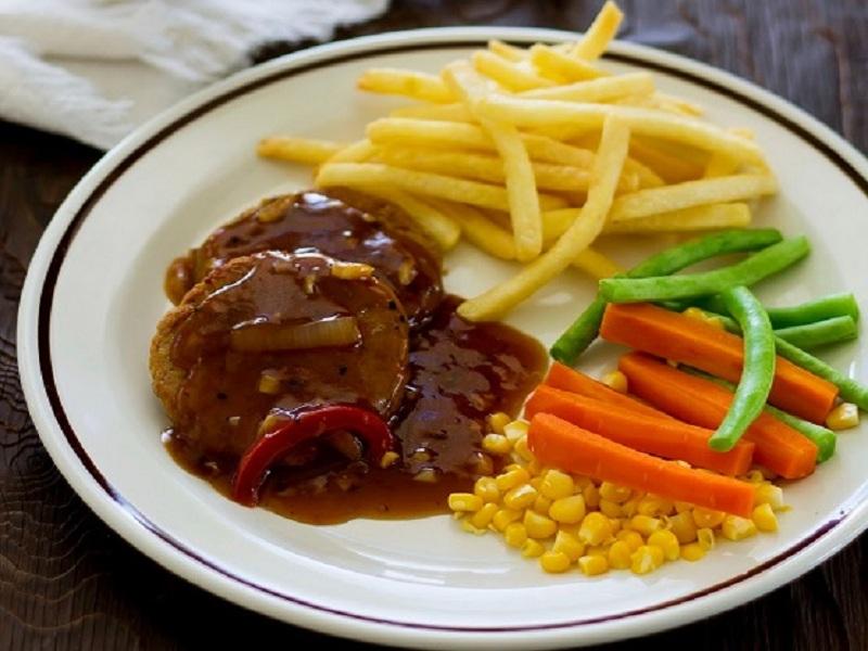 Steak Tempe vegetable Rasa Resto