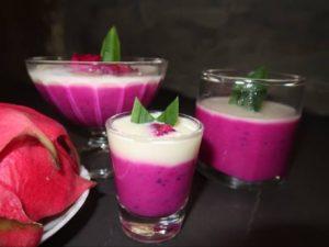 Resep Puding Fruit Dragon Milk