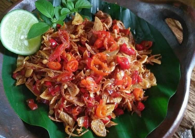 Resep Sambel Embe Khas Bali