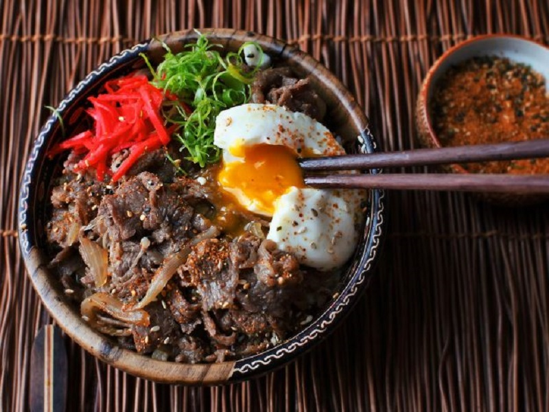 Resep Rice Bowl Chicken Sukiyaki
