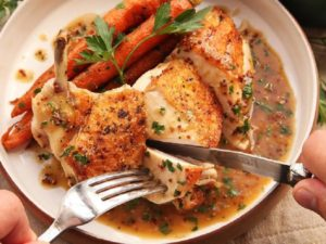 Resep Chicken Steak With Rosemary Sauce