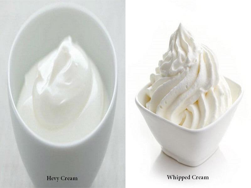 perbedaan whipped cream dan heavy cream dengan resep
