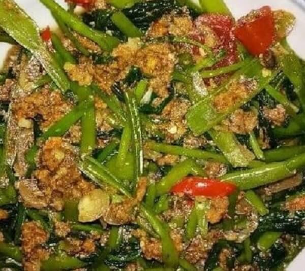 Resep Kangkung Oncom