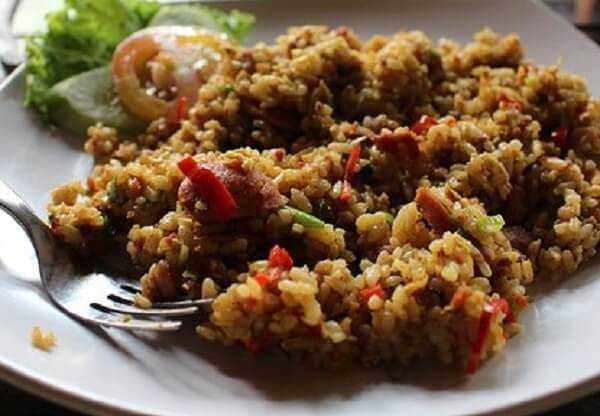 resep nasi goreng oat sarapan ala wrp