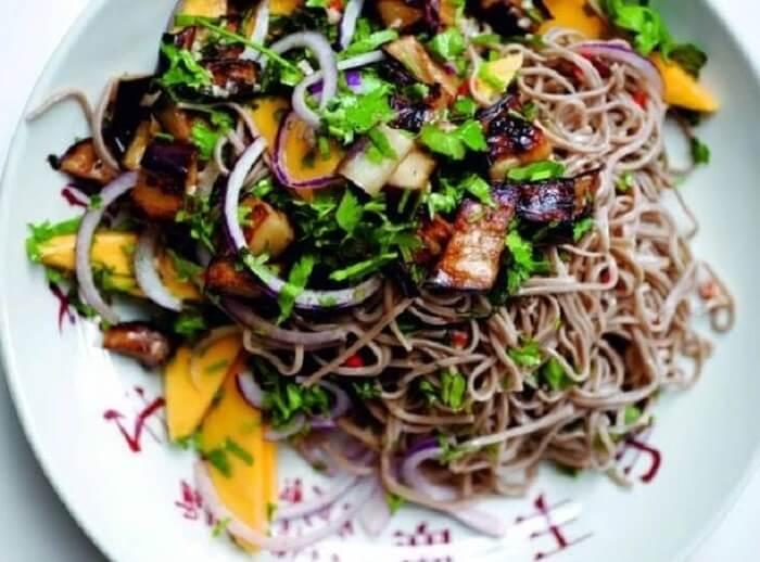 Resep Thai Salmon Manggo Vermicelli